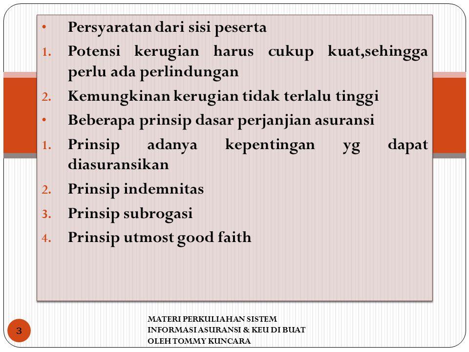 Pelaksanaan prinsip UTMOST GOOD FAITH 1.Representasi 2.
