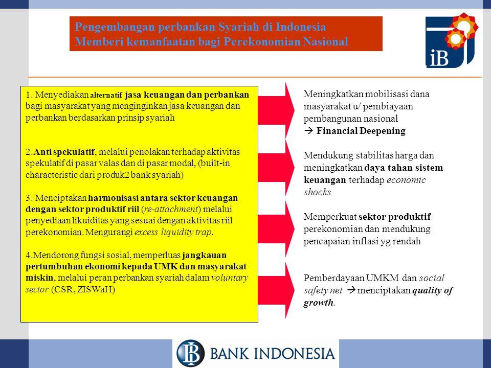 1. Menyediakan alternatif jasa keuangan dan perbankan bagi masyarakat yang menginginkan jasa keuangan dan perbankan berdasarkan prinsip syariah 2.Anti