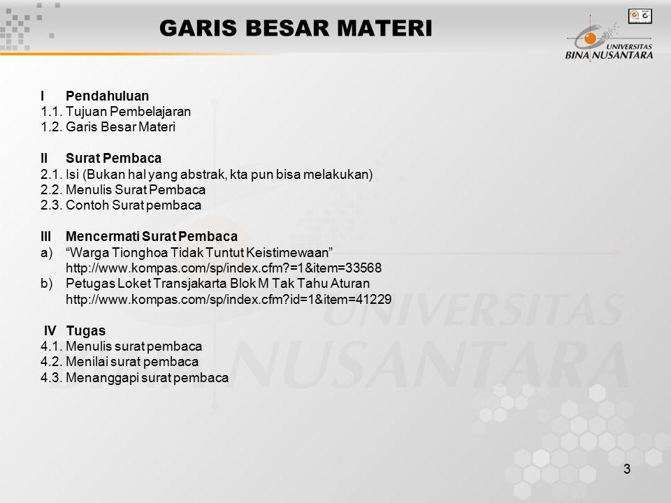 3 GARIS BESAR MATERI IPendahuluan 1.1.