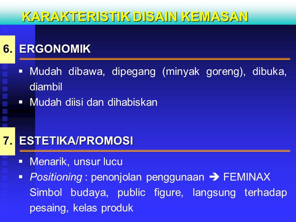 KARAKTERISTIK DISAIN KEMASAN 8.