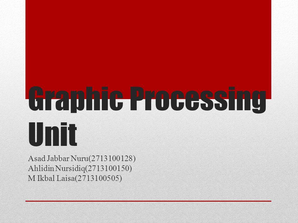 Kesimpulan GPU atau Graphics Processing Unit adalah chip yang bekerja mengotaki kinerja grafis pada perangkat khususnya yang berbasis Android.