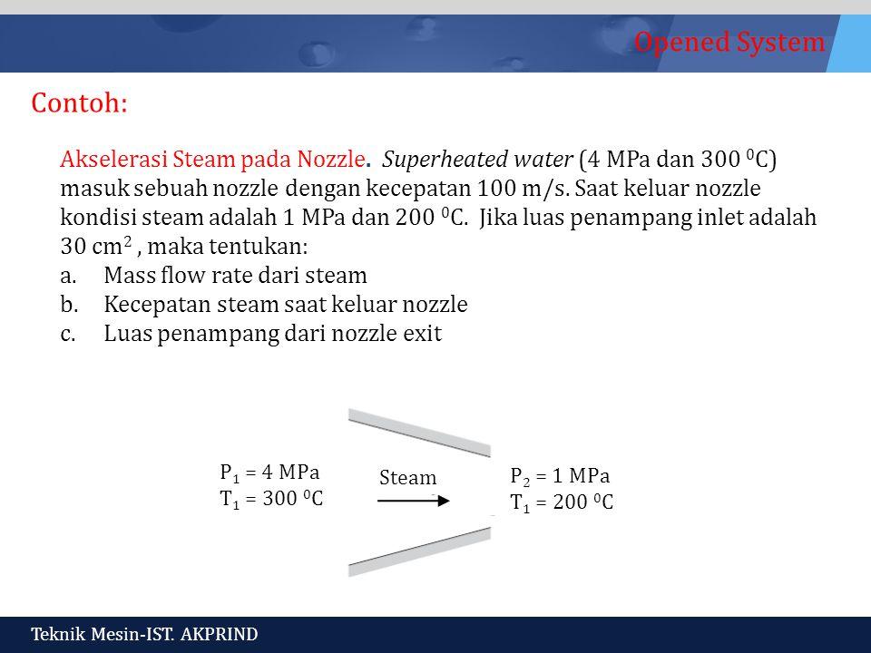 Opened System Teknik Mesin-IST.AKPRIND Akselerasi Steam pada Nozzle.