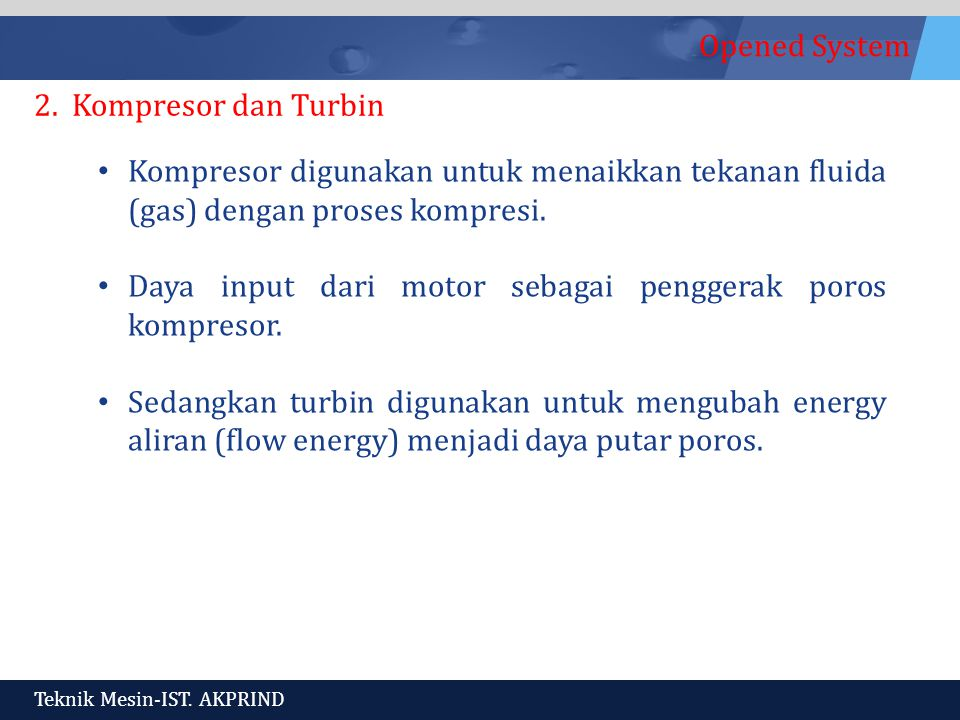 Opened System Teknik Mesin-IST.AKPRIND 2.