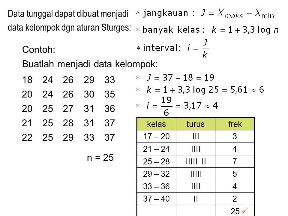 Nilai UH Math IPA 5: c.Jika KKM = 69, 0 berapa siswa yg lulus.