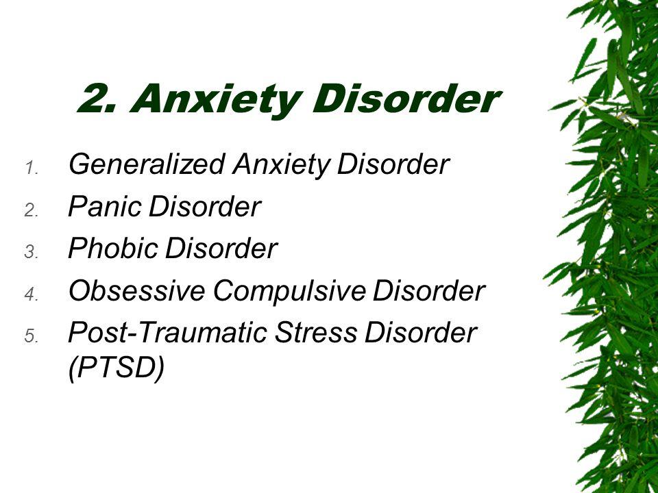 3.Mood Disorder 1. Depressive Disorder 2. Bipolar Disorder 3.