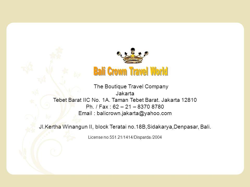 The Boutique Travel Company Jakarta Tebet Barat IIC No.