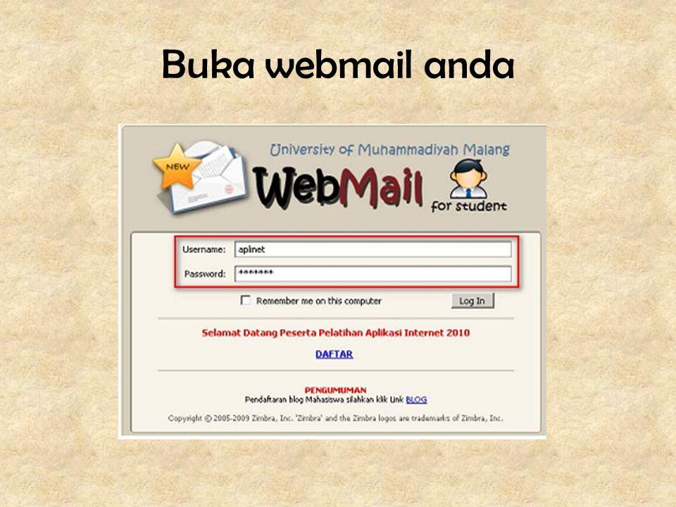 Buka webmail anda