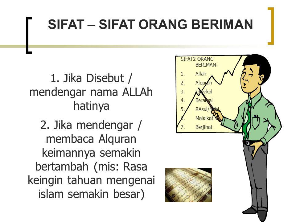 SIFAT – SIFAT ORANG BERIMAN 1.