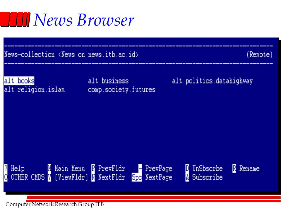 Computer Network Research Group ITB News Browser