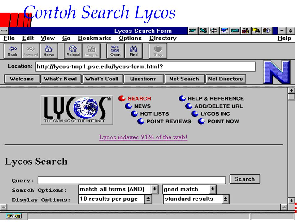 Computer Network Research Group ITB Contoh Search Lycos
