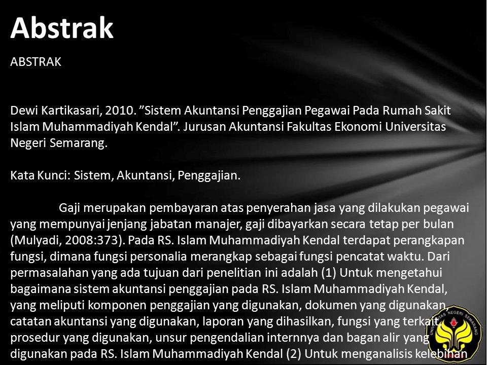 Abstrak ABSTRAK Dewi Kartikasari, 2010.