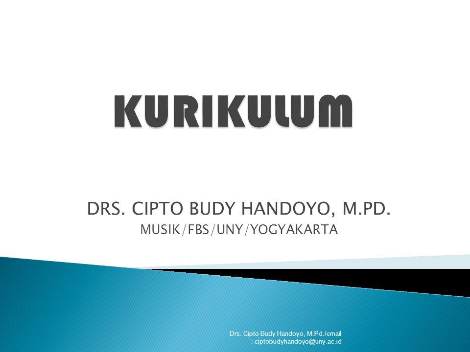Drs.Cipto Budy Handoyo, M.Pd./email : ciptobudyhandoyo@uny.ac.id DRS.