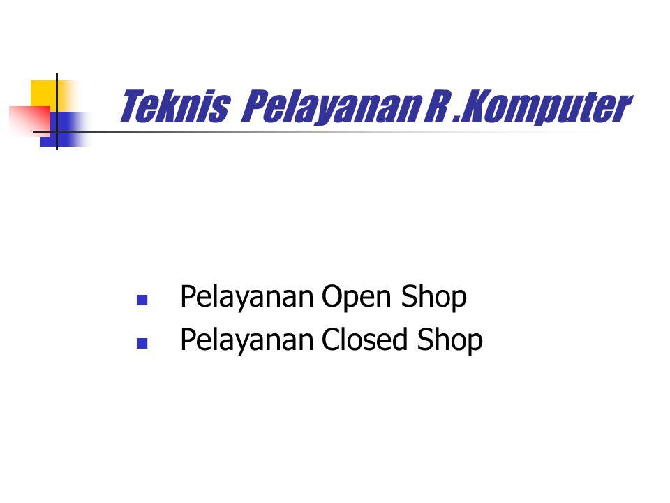 Teknis Pelayanan R.Komputer Pelayanan Open Shop Pelayanan Closed Shop