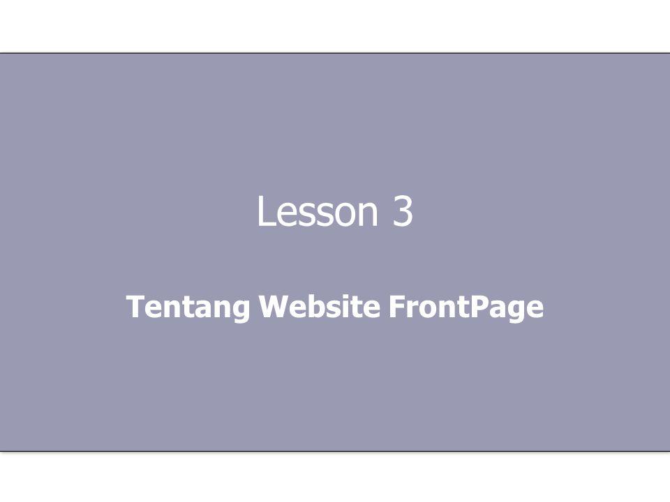FrontPage adalah perangkat lunak (software) untuk memdesain web.