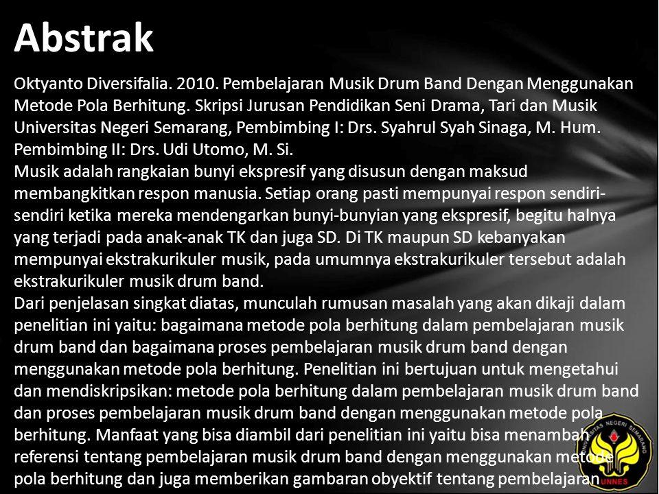 Abstrak Oktyanto Diversifalia. 2010.