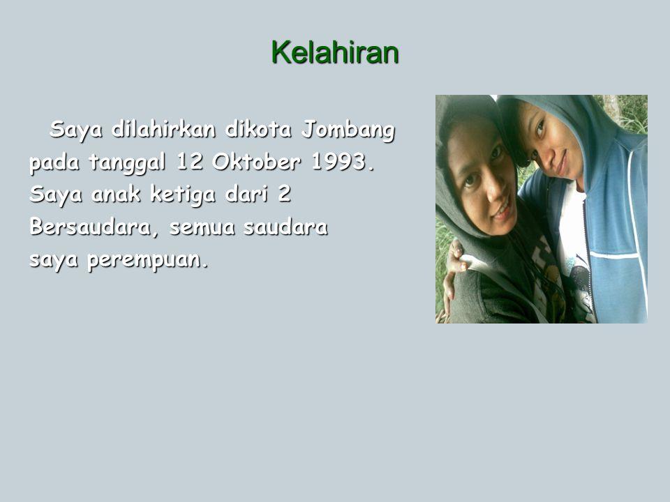 Kelahiran Saya dilahirkan dikota Jombang pada tanggal 12 Oktober 1993.
