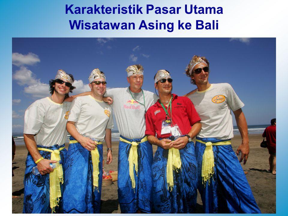 Karakteristik Pasar Utama Wisatawan Asing ke Bali