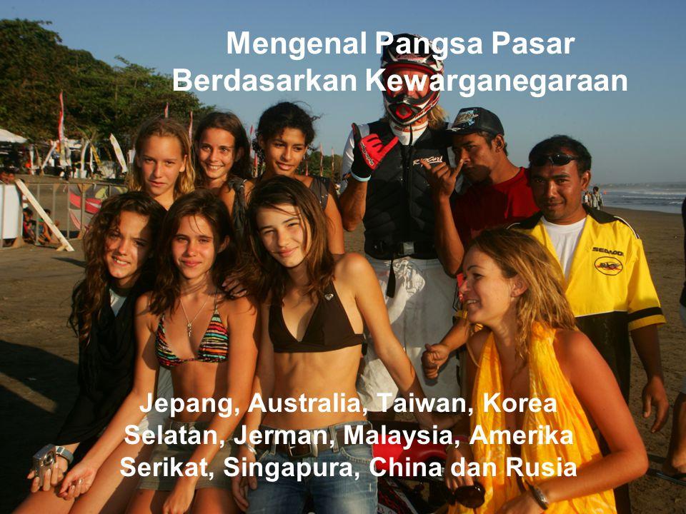 Mengenal Pangsa Pasar Berdasarkan Kewarganegaraan Jepang, Australia, Taiwan, Korea Selatan, Jerman, Malaysia, Amerika Serikat, Singapura, China dan Ru