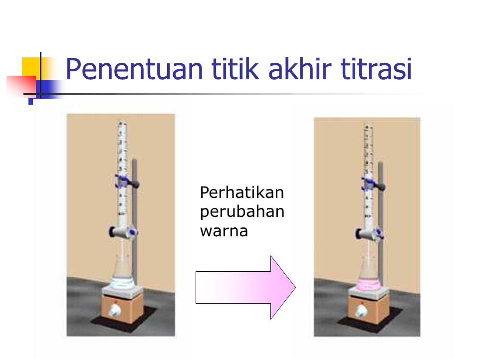 Syarat larutan standar 1. Kemurnian tinggi 2. Stabil terhadap udara 3. Bukan kelompok hidrat 4. Tersedia dengan mudah 5. Cukup mudah larut 6. Berat mo