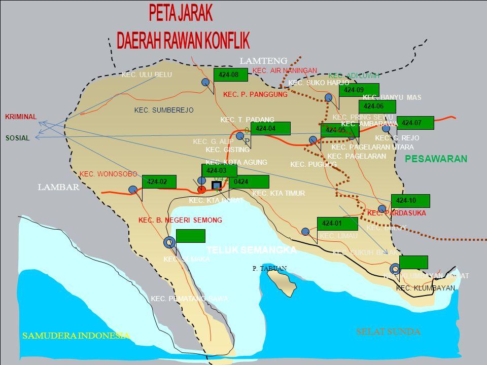 KORAMIL 424-02/Wsb memiliki wilayah kerja 3 Kecamatan yaitu Kec.