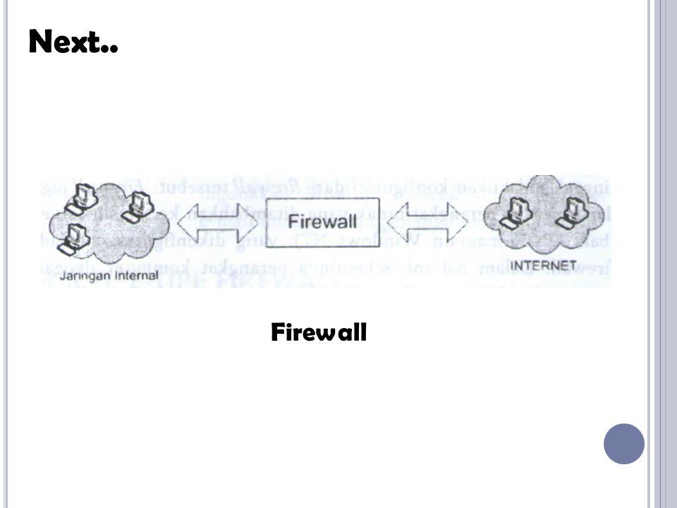 Next.. Firewall