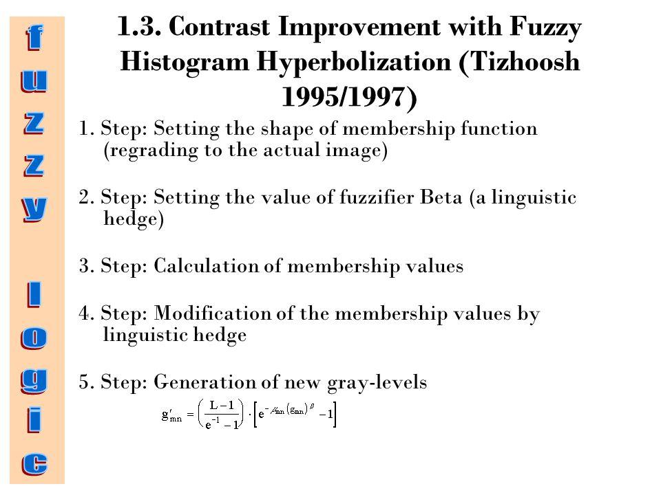 1.3.Contrast Improvement with Fuzzy Histogram Hyperbolization (Tizhoosh 1995/1997) 1.