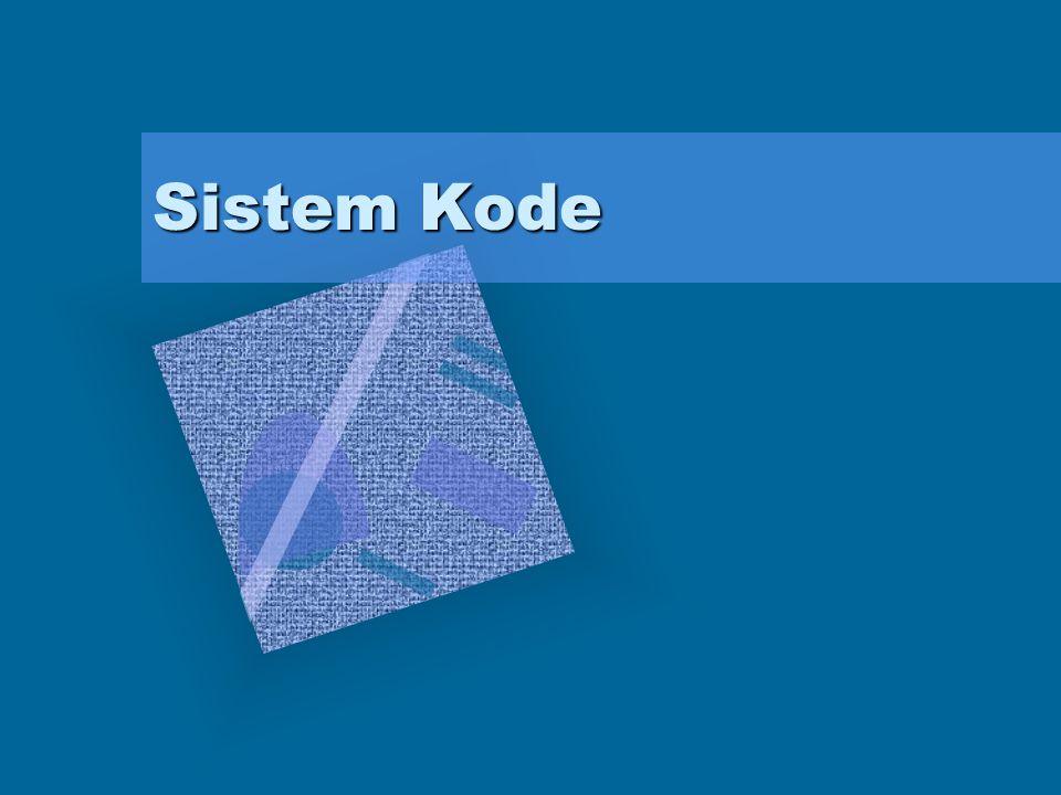 Data yang diproses dalam sistem digital umumnya direpresentasikan dengan kode tertentu Terdapat beberapa sistem kode : –Kode BCD (Binary Coded Decimal) –Kode Excess-3 (XS-3) –Kode Gray –Kode 7 Segment –Kode ASCII (American Standard Code for Information Interchange)