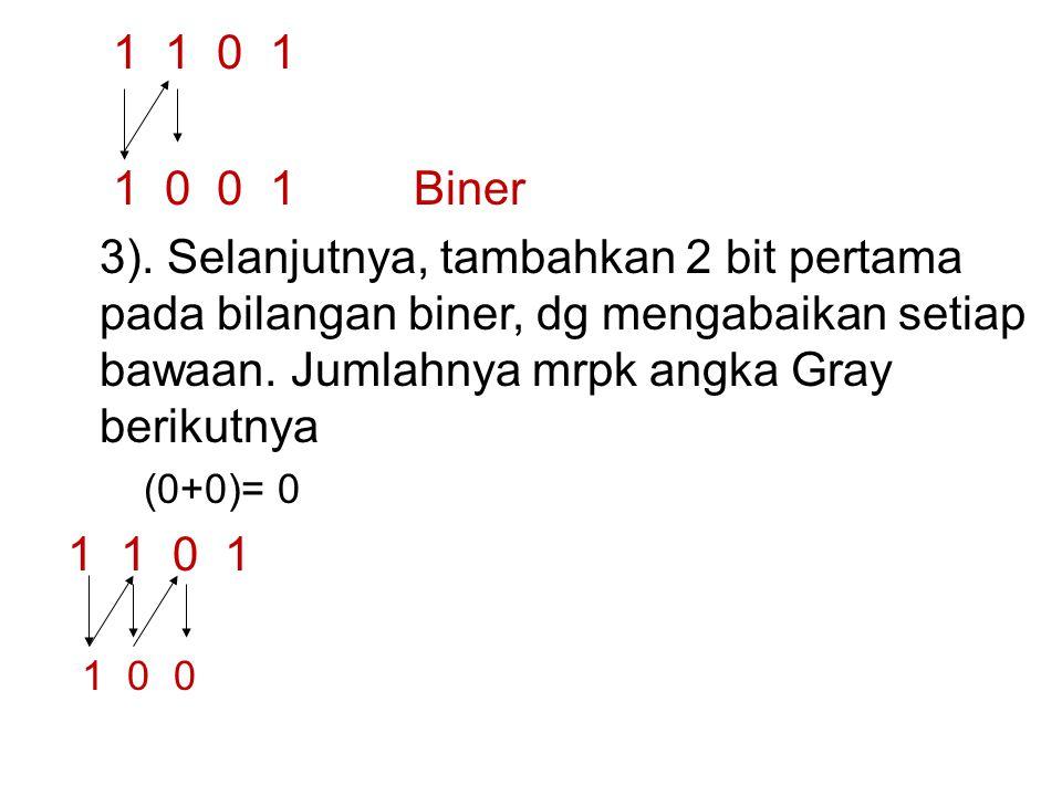 1 1 0 1 1 0 0 1 Biner 3).