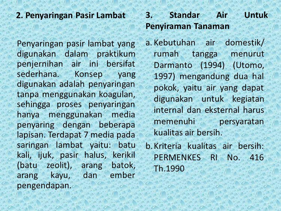 4.Standart Mutu Air Bersih PERMENKES RI No.