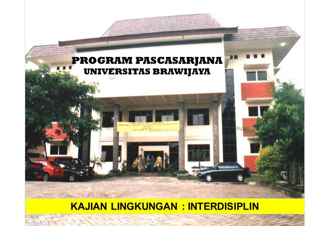PROGRAM PASCASARJANA UNIVERSITAS BRAWIJAYA KAJIAN LINGKUNGAN : INTERDISIPLIN