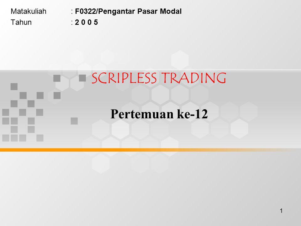 2 (perdagangan saham tanpa warkat)