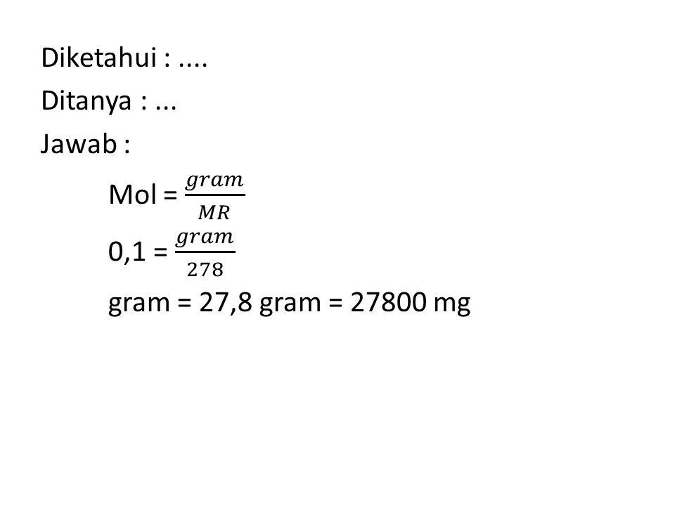 SOAL 8 Dalam suatu praktikum spektrofotometri, ingin dibuat larutan baku induk asam salisilat dengan konsentrasi 500 ppm.