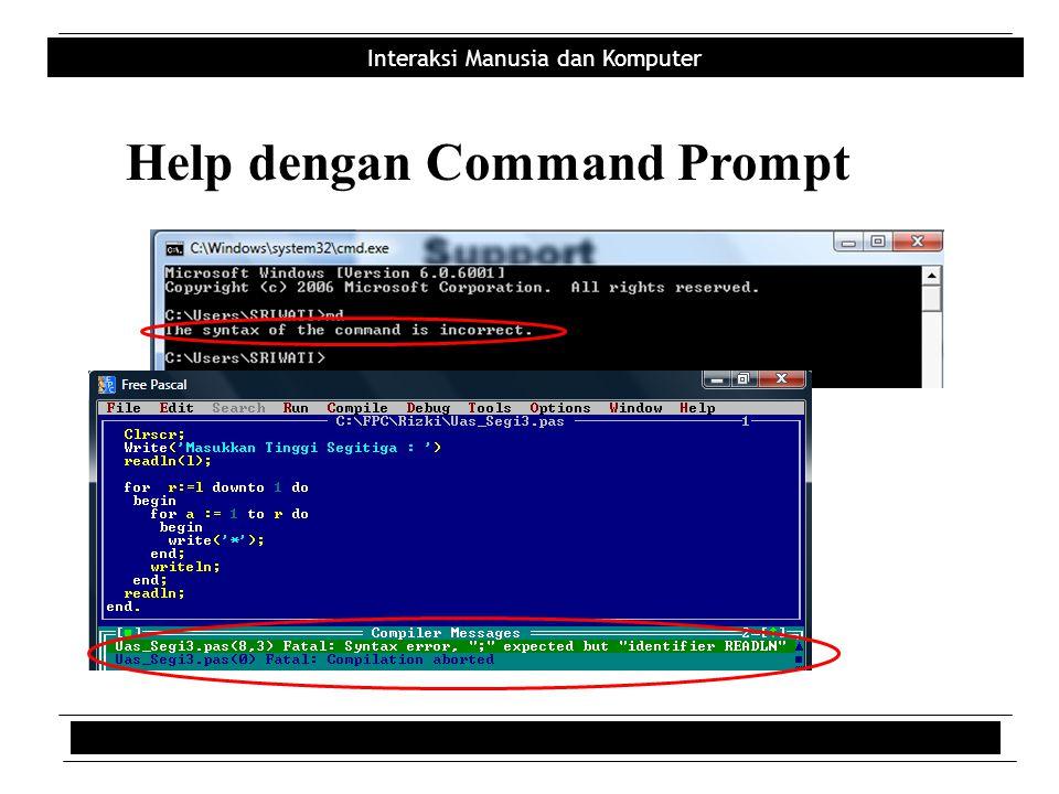 Interaksi Manusia dan Komputer Help dengan Command Prompt