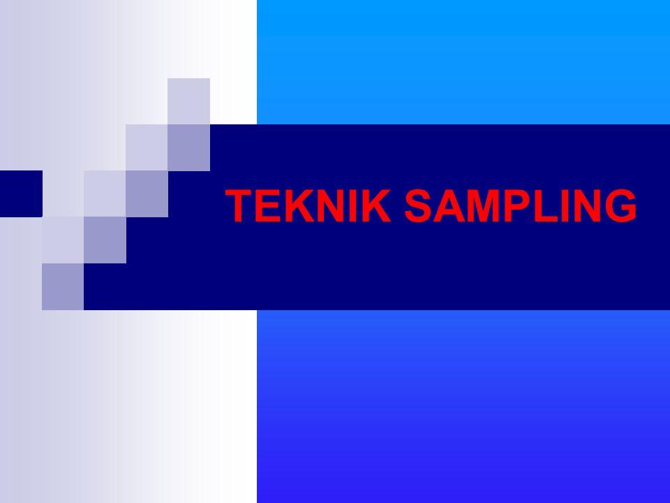 TEKNIK SAMPLING