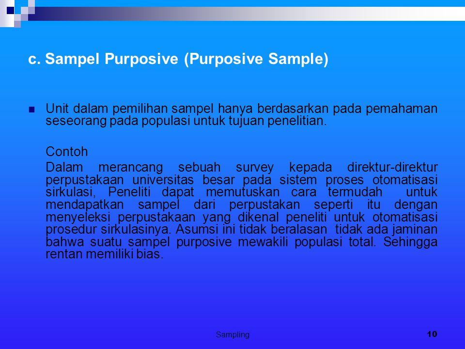 Sampling10 c.