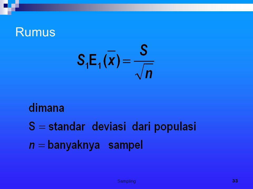 Sampling33 Rumus