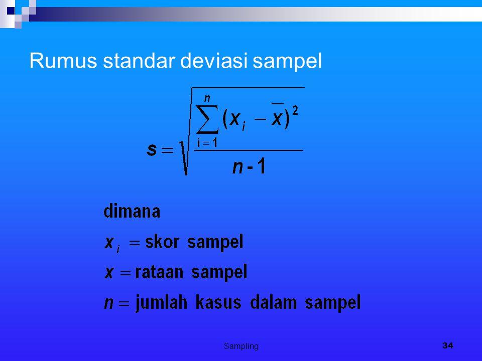 Sampling34 Rumus standar deviasi sampel