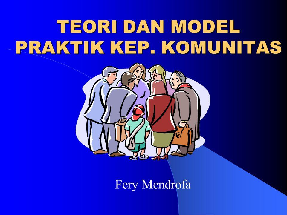 TEORI DAN MODEL PRAKTIK KEP. KOMUNITAS Fery Mendrofa