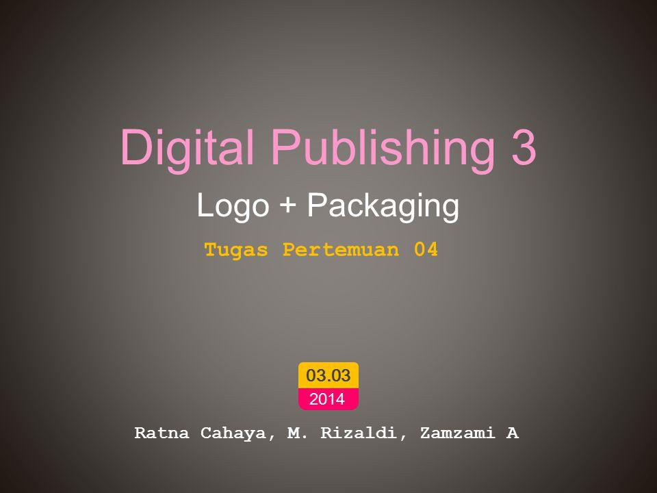 Digital Publishing 3 Logo + Packaging Ratna Cahaya, M.