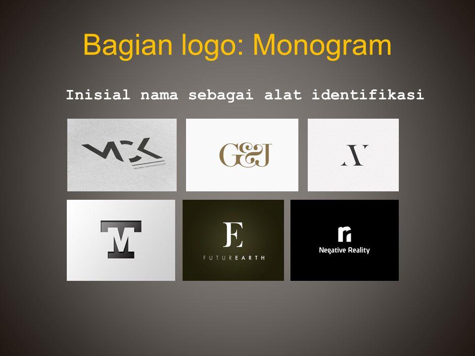 Bagian logo: Monogram Inisial nama sebagai alat identifikasi