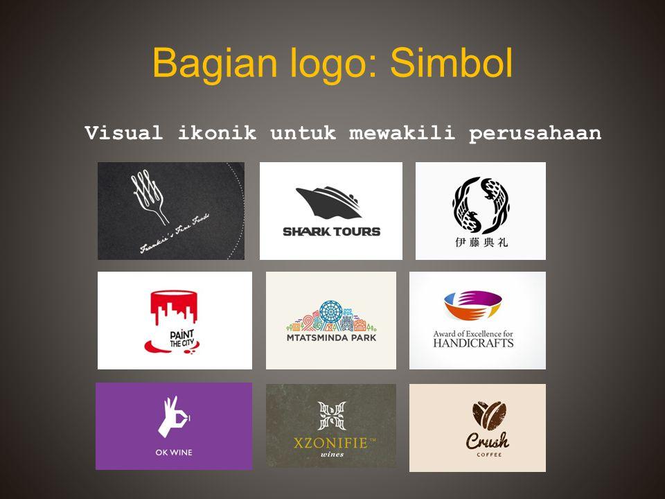 Bagian logo: Simbol Visual ikonik untuk mewakili perusahaan