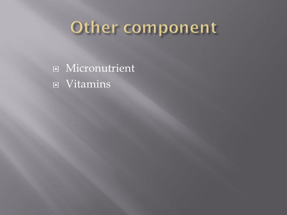  Micronutrient  Vitamins