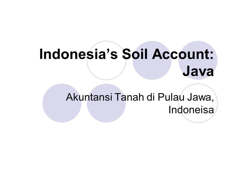 Indonesia's Soil Account: Java Akuntansi Tanah di Pulau Jawa, Indoneisa