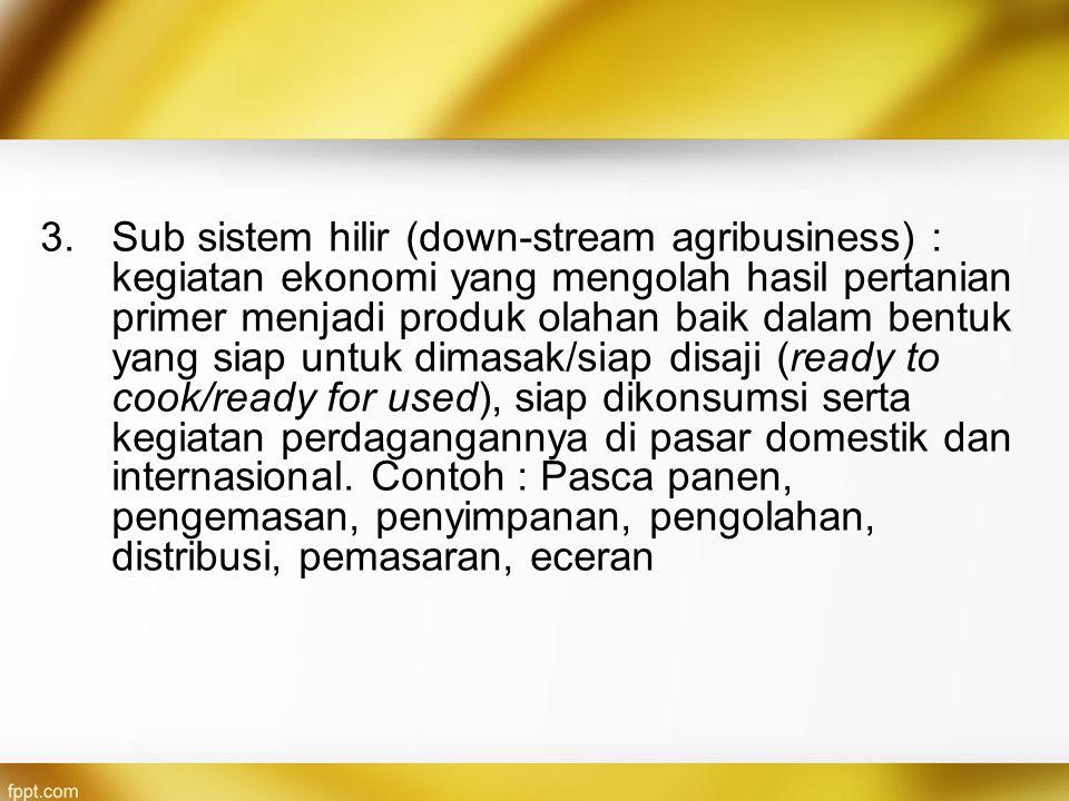 4.Subsistem jasa layanan pendukung : kelembagaan dan kegiatan penunjang (supporting institution and activities).