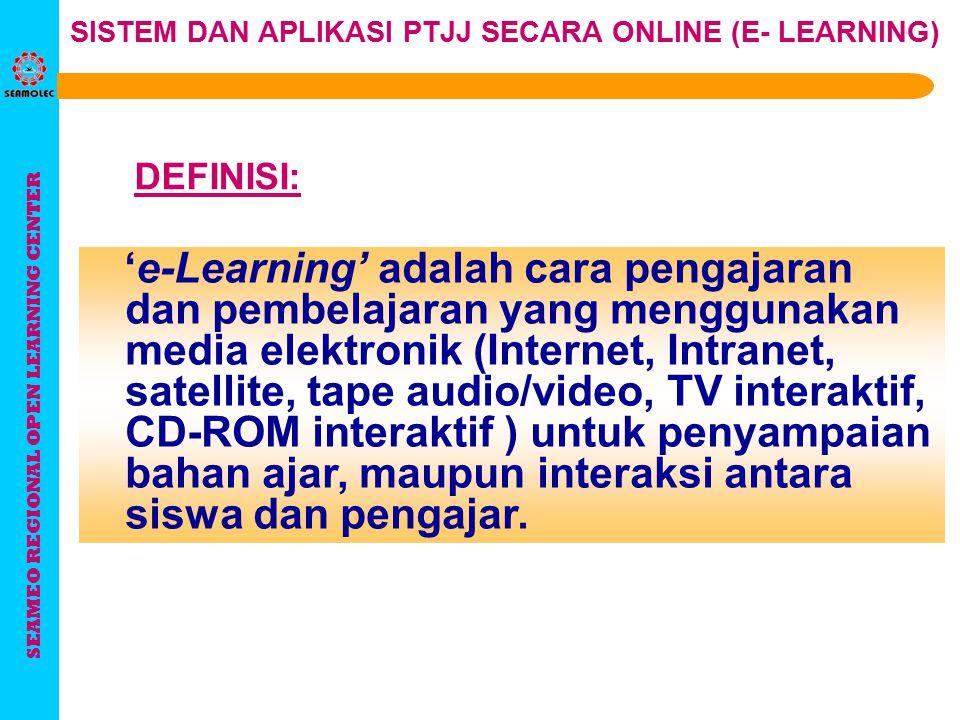 SISTEM DAN APLIKASI PTJJ SECARA ONLINE (E-LEARNING) SISTEM DAN APLIKASI PTJJ SECARA ONLINE (E-LEARNING) Gunadarma, 13 Oktober 2004 Gunadarma, 13 Oktob