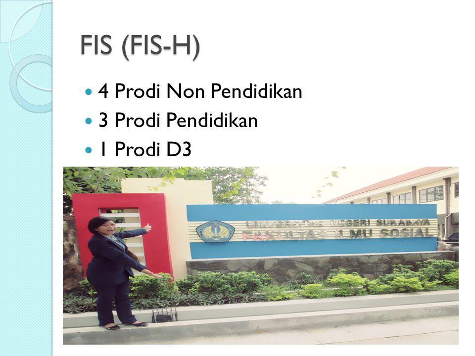 FIS (FIS-H) 4 Prodi Non Pendidikan 3 Prodi Pendidikan 1 Prodi D3