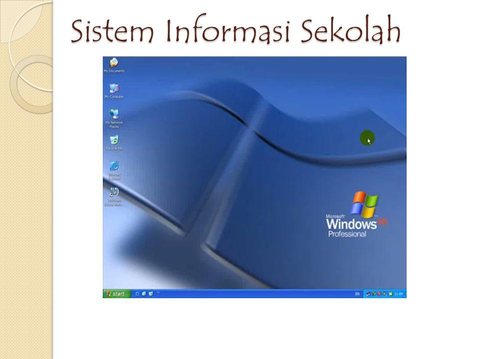 Sistem Informasi Sekolah Sistem Informasi Sekolah