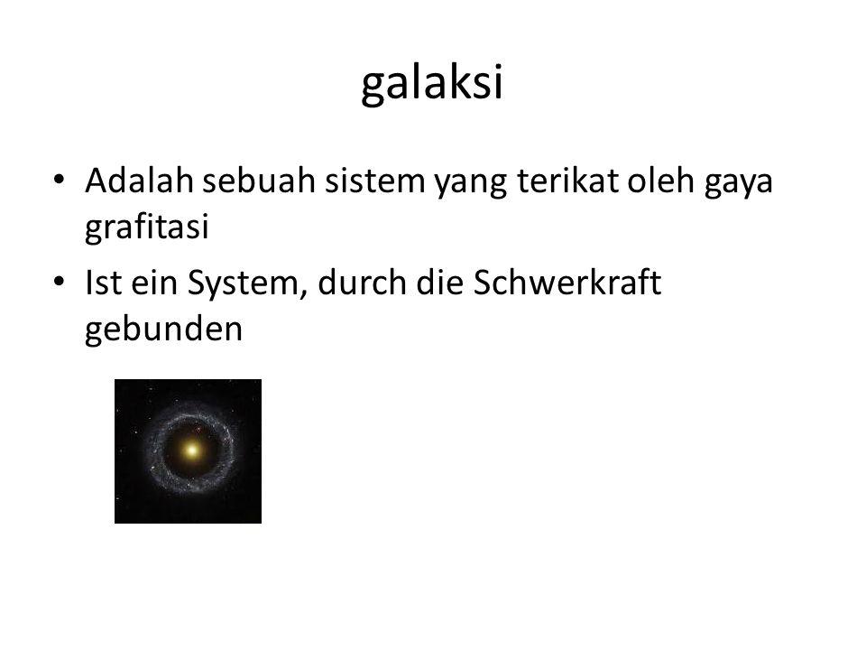 galaksi Adalah sebuah sistem yang terikat oleh gaya grafitasi Ist ein System, durch die Schwerkraft gebunden