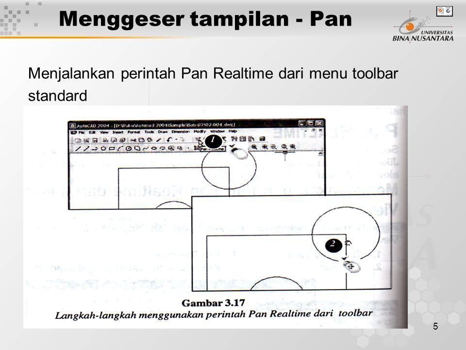6 Menggeser tampilan - Pan Menjalankan perintah Pan Realtime dari baris perintah