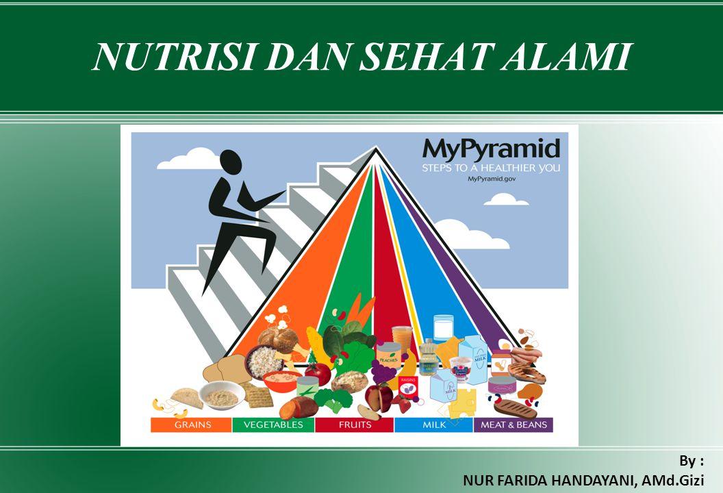 NUTRISI DAN SEHAT ALAMI By : NUR FARIDA HANDAYANI, AMd.Gizi